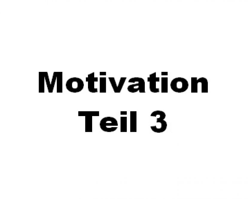 Motivation Teil 3